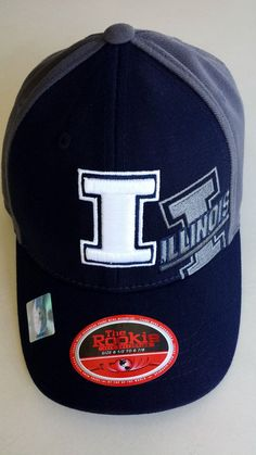 sale retailer 228bd 9158b Illinois Fighting Illini Top of the World Flex Cap  Hat Youth 61 2 -