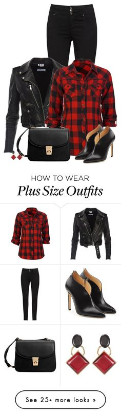 """Plaid/Checked Shirt"" by laila-cervantes on Polyvore featuring Full Tilt, MANGO, Chloe Gosselin and Marni"
