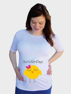 Easter Our Little Chick Maternity Shirt summer by DJammarMaternity