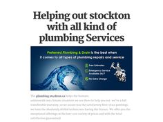 Helping out stockton with all kind of plumbing Services