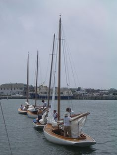 Furling the sails after a Smith Classics regatta in the Great South Bay