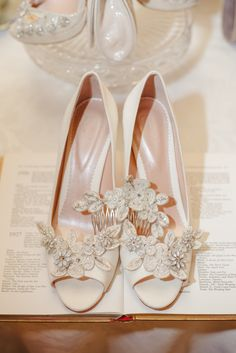 Our Lucy shoes with one of our beautiful shoe clips and petal comb! Go to www.emmylondon.com for more information