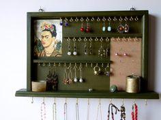 jewelry organizer. earrings holder. earring by FineArtHolders