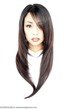 The floating head is freaking me out, too. Haha! But this is what I want... very long hair with many layers so it's not too flat :)