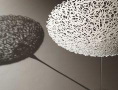 Antonella Cimatti, porcelain  silver price winner Kocef ceramics Biennale 2007 Korea  Title: crespina    Date: 2006    Technique: slip cast dripping    Temperature: 1260 C oxidation    Glazing / Surface Treatment: none    Material: porcelain paperclay | Glass Base    Object Type: Bowl    Height: 40    Width: 40    Depth: 40