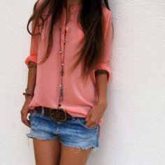 jean shorts, fashion, denim short, cloth, color, summer style, blous, summer outfits, shirt