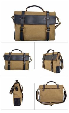 Handmade Canvas Leather Briefcase, Messenger Laptop Bag Satchel Bag 1870 Vintage Style Canvas Leather Laptop Bag, Messenger Shoulder Bag Satchel Bag 1870 Model Number: 1870 Dimensions: x x / x x Weight: / Hardware: Brass H Leather Laptop Bag, Leather Luggage, Leather Briefcase, Leather Bags, Laptop Messenger Bags, Canvas Messenger Bag, Laptop Bags, Radley Bags, Leather Holster