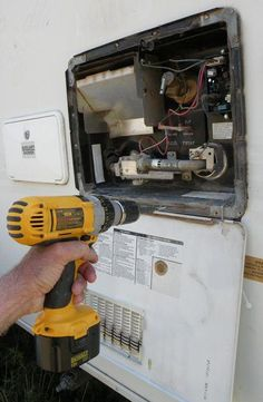 Replace Your RV Water Heater - DIY!-in case we ever need to know Solar Energy Panels, Best Solar Panels, Do It Yourself Camper, Rv Water Heater, Diy Heater, Camper Repair, Diy Rv, Rv Makeover, Remodeled Campers