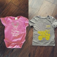 Custom onesie and toddler shirts! Www.instagram.com/grits_and_Gratitude