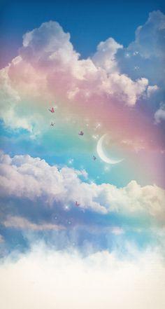 Rainbow Moonstone and Topaz Misty Skies Pendant Look Wallpaper, Iphone Wallpaper Sky, Cute Galaxy Wallpaper, Rainbow Wallpaper, Cute Patterns Wallpaper, Aesthetic Pastel Wallpaper, Scenery Wallpaper, Kawaii Wallpaper, Aesthetic Backgrounds