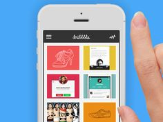 Dribbble - Dribbble Mobile Refresh [ANIMATED] by Mikael
