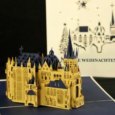 #popupkarte #colognecards #3DKarte #weihnachtskarte #aachenerdom #tannenbaum