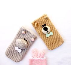 Iphone crochet cases by anguriacreations on Etsy, €14.90
