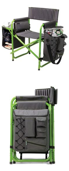 Outdoor Lounge Chair - includes cooler, folds flat to store