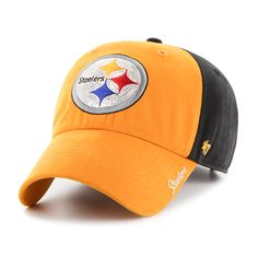 6fb7415f358569 Pittsburgh Steelers Sparkle Two Tone Clean Up Black 47 Brand Womens Hat