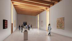 Image 6 of 9 from gallery of Herzog & de Meuron Release Final Design for Vancouver Art Gallery. Photograph by Herzog & de Meuron Timber Architecture, Building Architecture, Vancouver Art Gallery, Wooden Facade, Doodle Background, Facade Design, Simple Art, Vintage Design, Deco