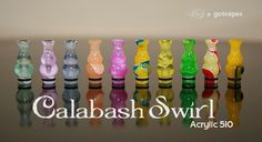 GotVapes Calabash Swirl Two Tier 510 Acrylic - #5 [gv-CalabashSwirl-#5] - $3.25 : GotVapes.com,  E-cigarette Supplies - Atomizers Cartomizers Mods Juice and more