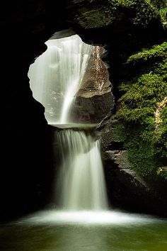 St Nectans Glen Waterfalls, Cornwall Visit www. for holidays in England St Nectan's Glen Waterfalls, Cornwall, UK . Beautiful Waterfalls, Beautiful Landscapes, Natural Waterfalls, Famous Waterfalls, Places Around The World, Around The Worlds, Places To Travel, Places To Visit, Magic Places