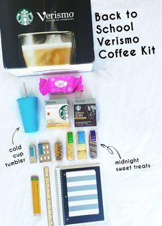 School supplies + life supplies—the back-to-school Starbucks Verismo coffee kit.