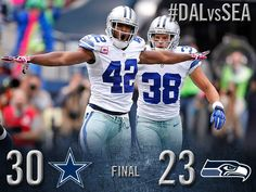 FINAL: Dallas Cowboys 30, Seattle Seahawks 23. Share the WIN!