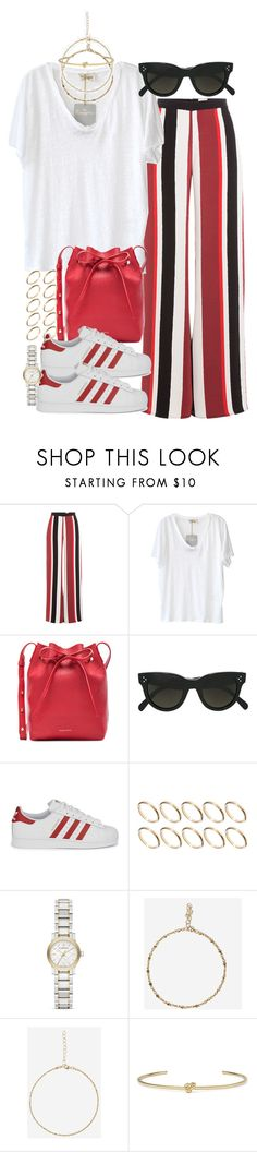 """""""Sin título #4272"""" by hellomissapple ❤ liked on Polyvore featuring Zeus+Dione, American Vintage, Mansur Gavriel, CÉLINE, adidas Originals, ASOS, Burberry, Jag and Jennifer Fisher"""