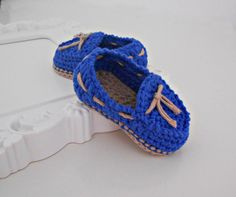 Crochet baby boy shoes - 100% cotton / Free Shipping on Etsy, $28.00