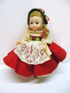 Vintage Madame Alexander International Doll - Swiss - Switzerland Doll - 8 inches - 1960's