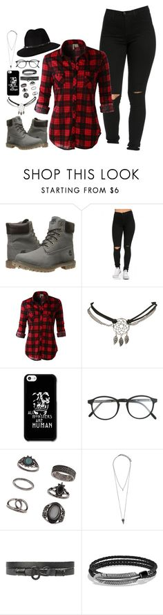 """""""Untitled #14"""" by shelley-hemmings ❤ liked on Polyvore featuring Timberland, LE3NO, Wet Seal, RetroSuperFuture, Topshop, Pieces, 21 Men, David Yurman and Anine Bing"""