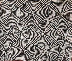 Johnny Yungut Tjupurrula, Untitled, acrylic on Belgian linein, 107 x 91 cm. Papunya Tula Artists. For more Aboriginal art visit www.mccullochandmcculloch.com.au #aboriginalart #australianart #contemporaryart