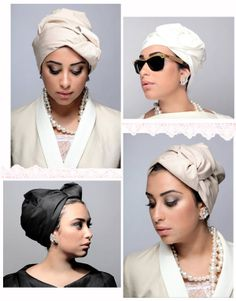 head covering...love the wrap style! Of course..without the make up and jewelry.