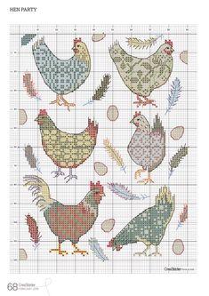 Chicken Cross Stitch, Tiny Cross Stitch, Cross Stitch Kitchen, Cross Stitch Books, Cross Stitch Needles, Cross Stitch Animals, Cross Stitch Charts, Cross Stitch Designs, Cross Stitch Patterns