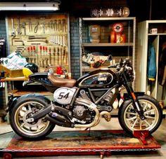 "capouxofficial: "" wilki1: Ducati Cafe Racer http://livinglifemotos.tumblr.com/post/152917016668 """