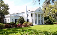 The Orton Plantation, Brunswick Co., North Carolina, located beside the Cape Fear River near Wilmington, is considered to be a near-perfect example of Southern antebellum architecture. Built in 1735, the Orton Plantation house is one of the oldest structures in Brunswick Co. The house is an example of Classical Revival & Greek Revival architecture. Originally a 1 1⁄2-story white brick building, a 2nd floor was added to the house in 1840 along with fluted Doric columns. The wings date to 1904