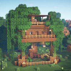 Casa Medieval Minecraft, Minecraft Mansion, Minecraft Cottage, Easy Minecraft Houses, Minecraft House Tutorials, Minecraft Plans, Minecraft House Designs, Minecraft Decorations, Amazing Minecraft