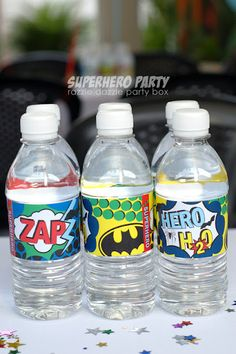 super hero water bottles
