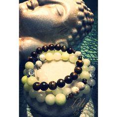 Buddha set from Lilye by lishka  #handmade #beadedbracelets #armcandy #fashion #prettybeads #jewelry #beadedjewelry #love #starbucks #handmadejewelry #handmade #beads #bracelets #style #etsy #etsyshop #accessories #stylish #custom #shopping #shop #craft