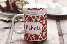 Kubek ceramiczny z zaparzaczem BABCIA TO SKARB 300 ml