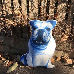 English Bulldog Blue gifts Blue Throw Pillows, Kids Pillows, Decorative Cushions, Take Me Home, Soft Hands, Bulldogs, All The Colors, Happy Shopping, French Bulldog