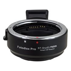 Fotodiox Pro Fusion Adapter, Smart AF Lens - Canon EOS (EF / EF-S) D/SLR Lens to Sony Alpha E-Mount Mirrorless Camera Body with Full Automated Functions Price:$99.95