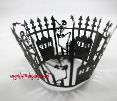 120 шт. череп вырез кекс лайнера кекс обертки украшения день рождения ну вечеринку сувениры свадебные принадлежности кекс чехол AW-0310(China (Mainland))