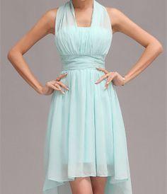 Color customizable bridesmaid dresses,bridesmaids dress short,mint chiffon bridesmaid dress,hang on bridesmaid dress,slim fit dress BN008