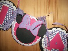 MINNIE MOUSE HIGHCHAIR Banner, Minnie Mouse Party Decor, Minnie Mouse Door Sign, Boutique Party Decorations