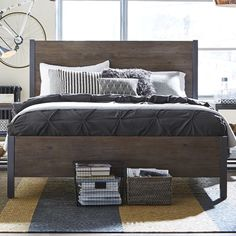 "Moriann Panel Bed rail height 7.5"""