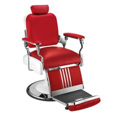 #Classic #Red #Barber #Chair For Sale! This Bright New Color Will