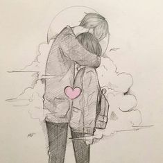 📷 drawing ideas em 2019 anime couples drawings, cute couple drawings e an. Anime Drawings Sketches, Anime Couples Drawings, Pencil Art Drawings, Drawings Of Love Couples, Cute Couple Drawings, Love Drawings, Drawing Faces, Friendship Sketches, Hugging Drawing