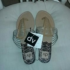 Brand new slip on sandals Brand new DV slip on sandals color is gold and brown size 8.5. Any questions please ask thanx Shoes Sandals