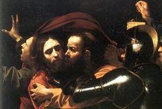 """17世纪艺评人贝洛里(Giovan Pietro Bellori)如是描述卡拉瓦乔的名画《背叛基督》(The Betrayal of Christ,又称:基督被捕,犹大之吻,见图1):""""犹大吻过天主之后,一手放在他肩上,一名全副盔甲的士兵伸出手臂,包着铁甲的手伸向天主的胸膛;天主耐心而谦卑地站着,双手在身前交扣;在他身后,可以看到圣约翰张开双手逃开。""""这幅充满现场感的名画,其数年前的失窃和复得,曾被拍成好莱坞大片、写成《纽约时报》头号畅销书;但很少有人了解这幅画独创性的写实技巧,而画家本人,其多舛的命运也足以令人唏嘘。且听意大利佛罗伦萨安吉尔艺术学院的教学总监向您道来。 - 文化漫谈"""