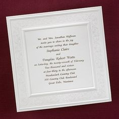 Timeless Ecru - Invitation weddingneeds.carlsoncraft.com