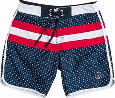 Men's Americana Hybrid Board Shorts | Old Navy | Red White and ...