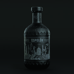 Espolòn Añejo X will bring the darkside out in you. With a limited edition  all black bottle, this tequila screams sexy. Designed by BFG Communications , packaging for a small batch of aged Añejo tequila pays tribute to the  ancient craft by using Barro Negro(black clay) as substrate material.